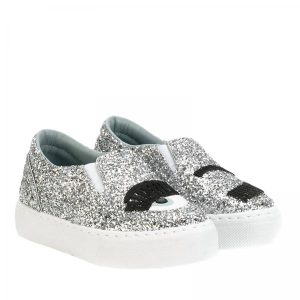 new styles ff293 b9654 Sneakers slip on glitter con maxi ricamo eyes flirting