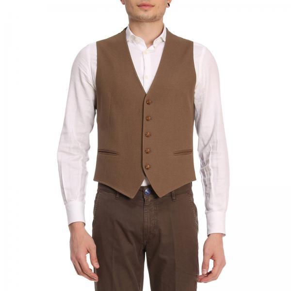 Tagliatore Mens Brown Suit Vest Suit Vest Men Tagliatore