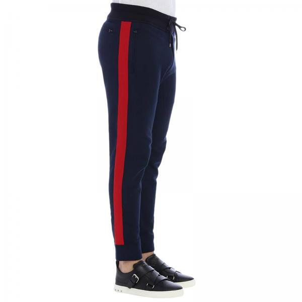 Pantalone in stile jogging con bande a contrasto