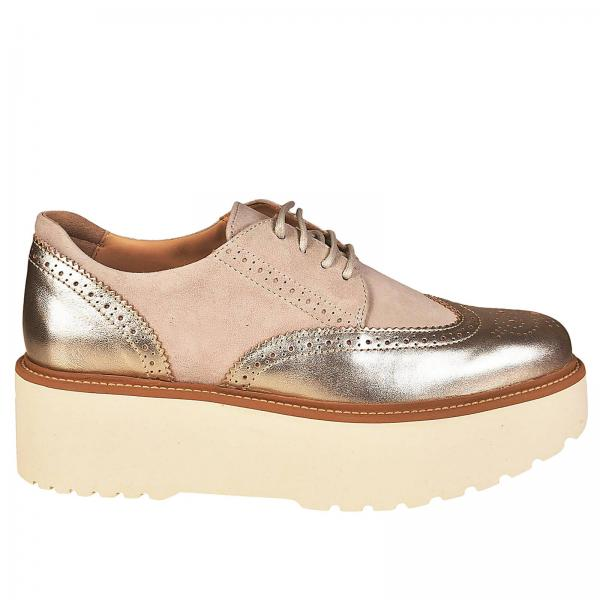 Derbies Femme Hogan Or   Chaussures Femme Hogan   Derbies Hogan Hxw3550ab00  Q25 - Giglio FR bc42764b750f