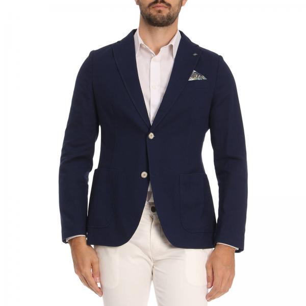 nuova stagione presa di fabbrica colore attraente Blazer Uomo Manuel Ritz Blue   Giacca Monopetto A Due Bottoni Con ...