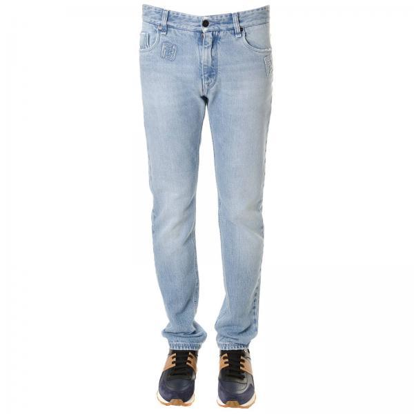 get cheap c2f39 d7db7 Jeans in cotone stretch used modello a 5 tasche con monogramma ff