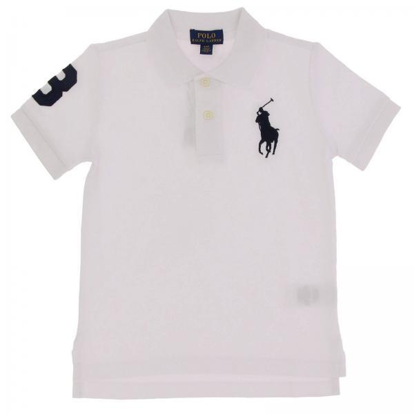 Pull garçon Polo Ralph Lauren Toddler Blanc   Pull Enfant Polo Ralph ... 4f7d07aa172