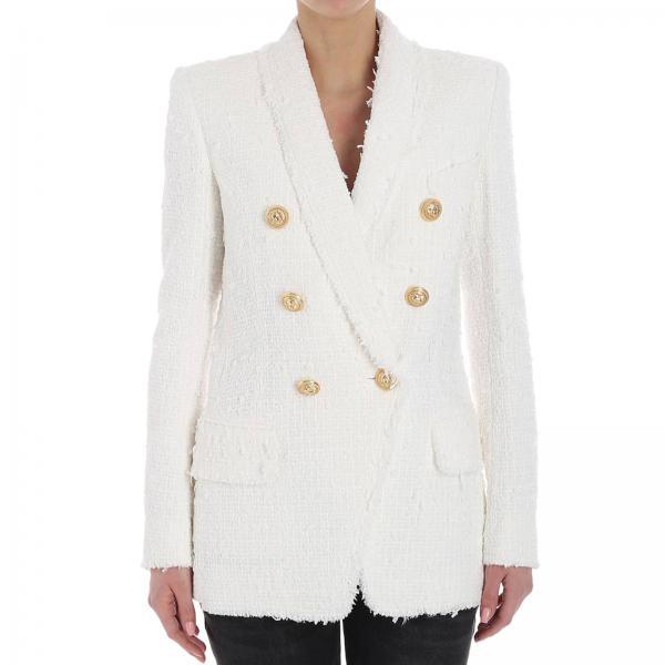 Blanc Femme Veste Femme Balmain Veste Blanc Veste Balmain qwnU50