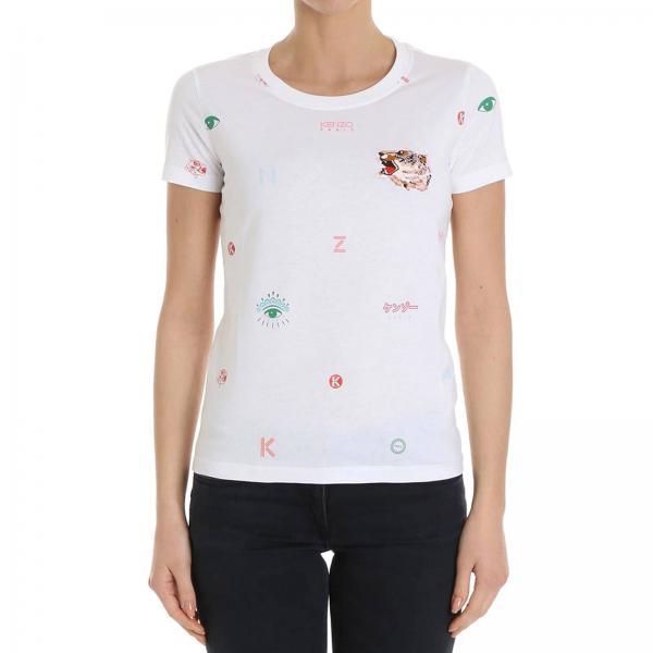 Blanco Kenzo Camiseta Mujer Kenzo Camiseta Blanco Mujer Camiseta Mujer x84gfqSx