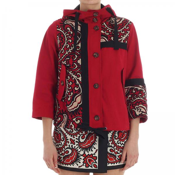 Rouge Rouge Valentino Valentino Red Femme Femme Veste Veste Red Tl1cKJuF3