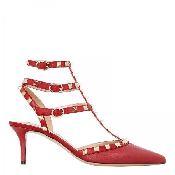 Continuativo De Zapatos Vcegiglio Valentino Pw2s0375 Mujer Rojo Artículo Garavani Salón rr6zR