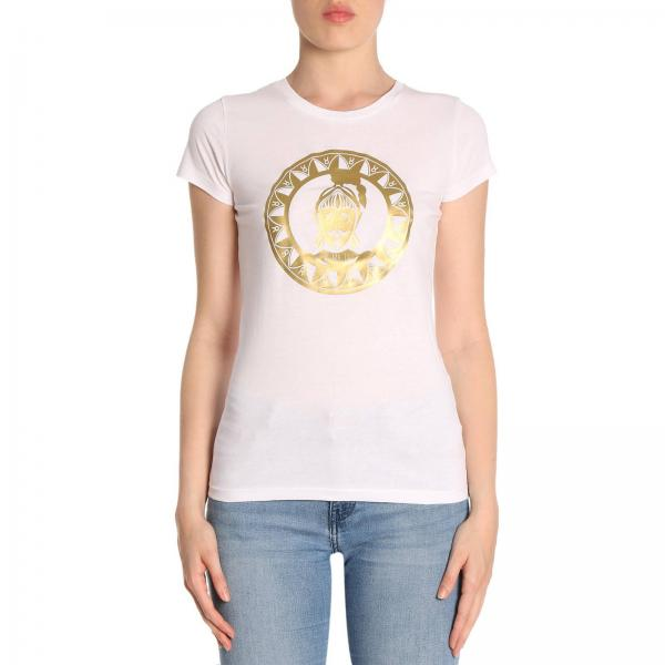 T-shirt in puro cotone a maniche corte con stampa Oliviero
