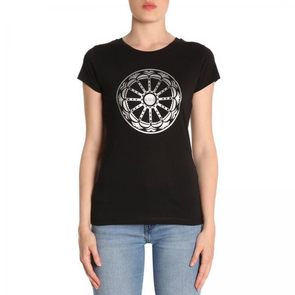 T-shirt in puro cotone a maniche corte con stampa Rotaluna