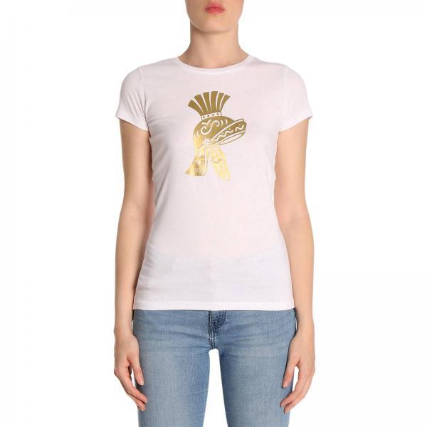 T-shirt in puro cotone a maniche corte con stampa Scipio