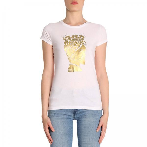T-shirt in puro cotone a maniche corte con stampa Aristide
