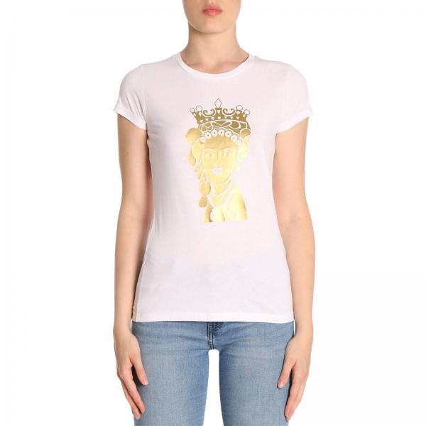 T-shirt in puro cotone a maniche corte con stampa Agata