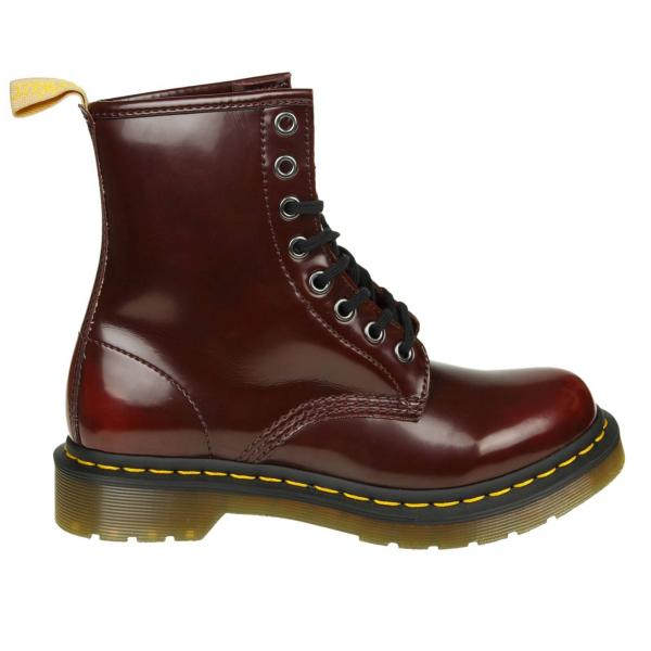 94ad928728b3f Flat ankle boots Women Dr. Martens Red