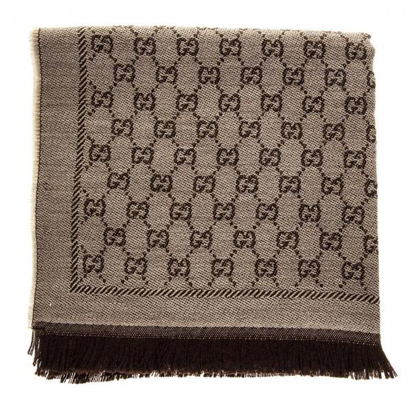 rivenditore online 0581b 8d5a5 Sciarpa in pura lana con monogramma gg supreme by gucci e fiori