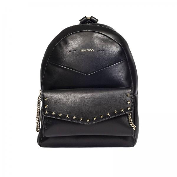 variousstyles hot sales famous brand Jimmy choo cassie backpack in smooth leather with studs in the shape of  stars and metal chains