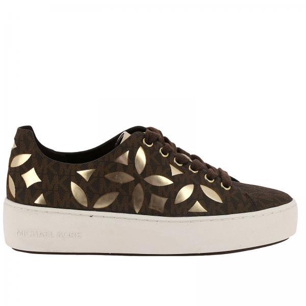 Lieblings Michael Michael Kors Women's Brown Sneakers | Shoes Women Michael #XP_53