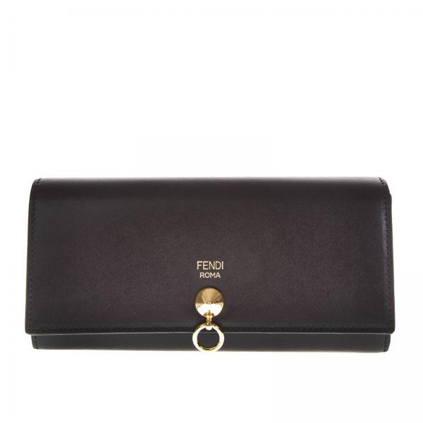 70f90bb8bf Portafoglio Donna Fendi | Portafoglio In Pelle Con Stampa Logo Fendi | Portafoglio  Fendi 8m0251 Sme - Giglio IT
