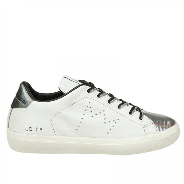 c414d1d80e99 Baskets Femme Leather Crown Blanc