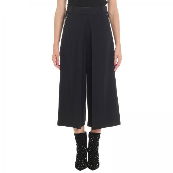 Pantalone ampio a vita alta con zip