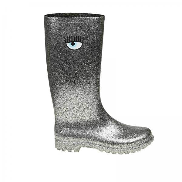 Stivale Rain boots slip on Flirting in gomma glitter