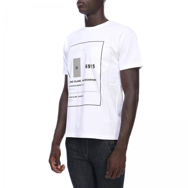 Logo Con Stone Corte In Puro A Cotone shirt T Island Maniche v80OmnwyN