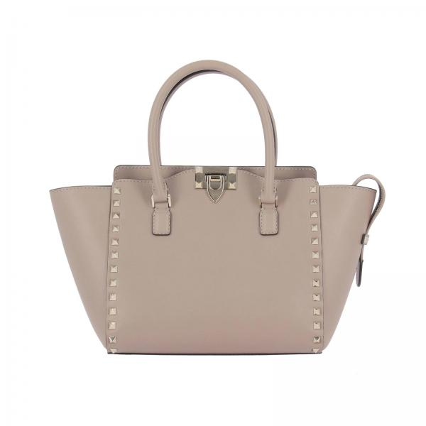 Valentino Garavani Women S Tote Bags Rockstud Ping Bag In Real Leather With Metal Studs Qw2b0540 Bol Giglio En