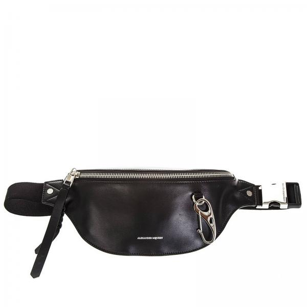 37344c364e02 Alexander Mcqueen Men s Black Belt Bag