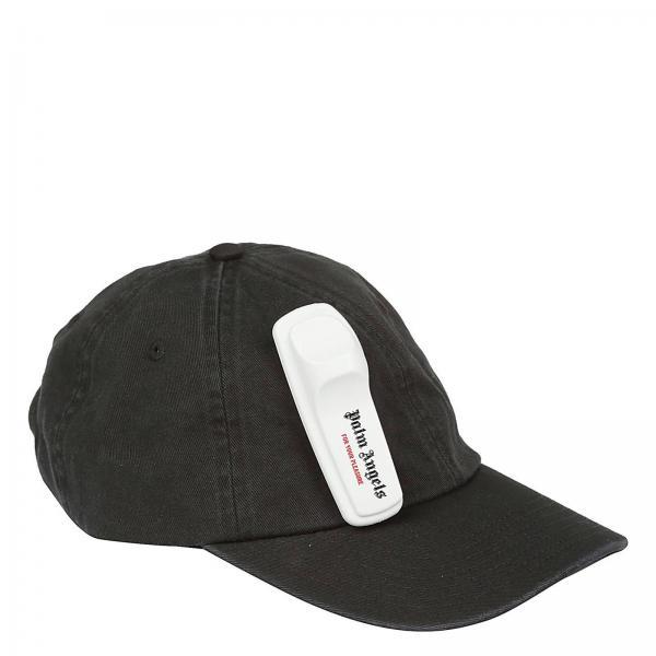 Palm Angels Men s Black Hat  c00700f03e3