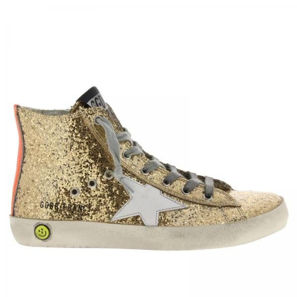 7a6536cb43efc Shoes little girl Golden Goose Gold