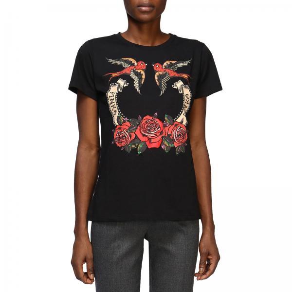 ac52d0fb26706 T-shirt Donna Pinko Nero