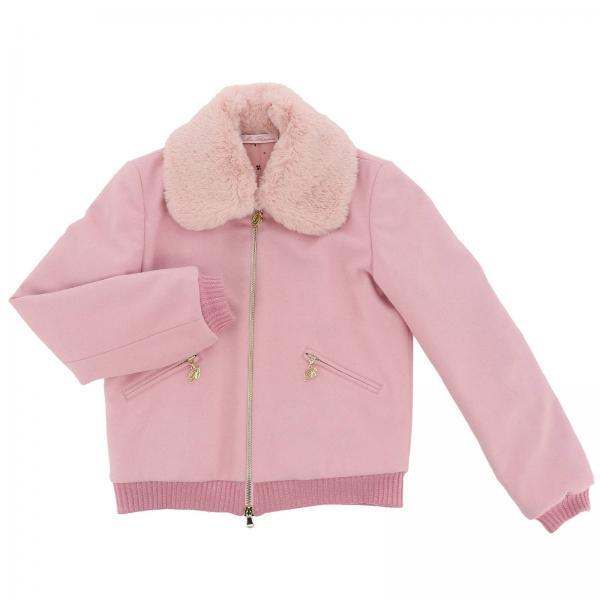 bb17887160d1 Miss Blumarine Little Girl s Pink Jacket   Jacket Kids Miss ...