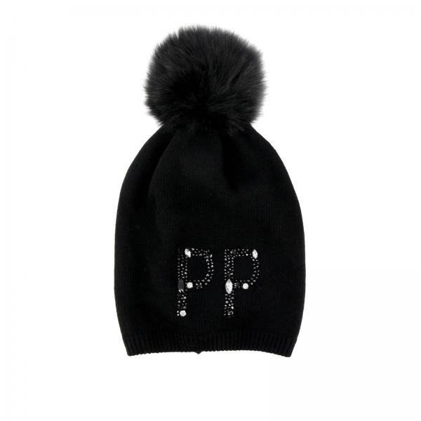 Patrizia Pepe Little Boy s Black Hat Girl  7fa756df188