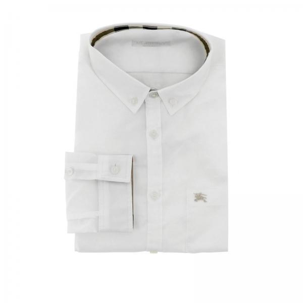 Camicia con collo button down interni check e taschino a toppa Burberry