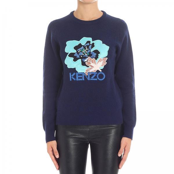 9f73979e58b pas cher pull kenzo femme bleu - Achat