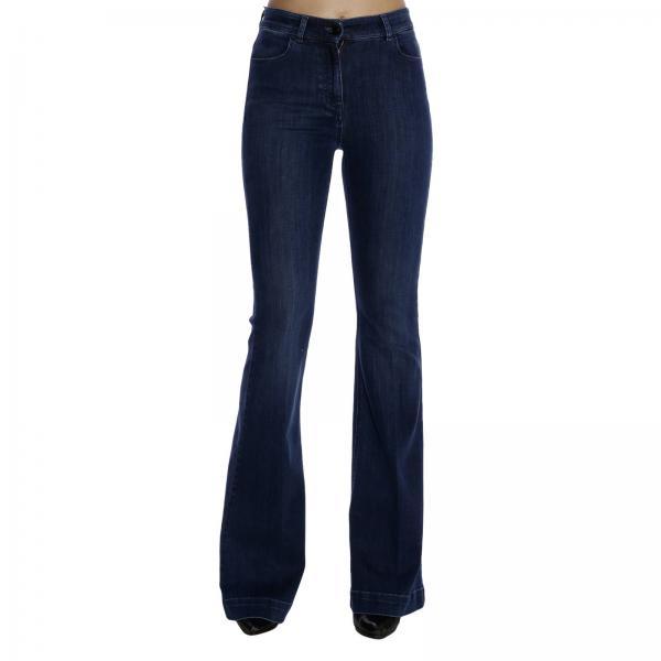 Pantalone a vita alta con fondo a zampa