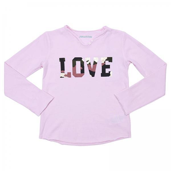 RoseEnfant Shirt Zadigamp; Voltaire T Fille jL5A34R