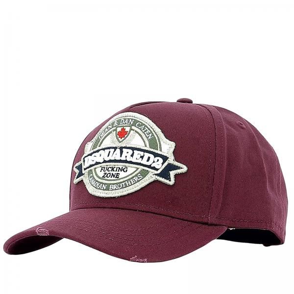 3281bf9273021 Dsquared2 Men s Burgundy Hat