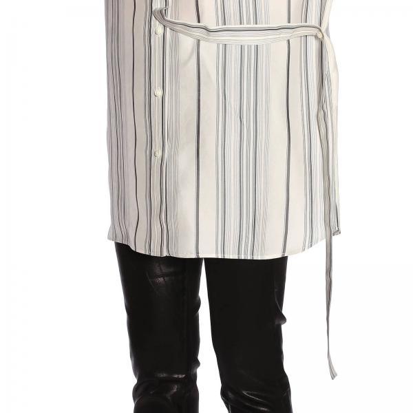 Camicia A Cintura Maniche Over Con Lunghe Asimmetrica qMSVpGUz