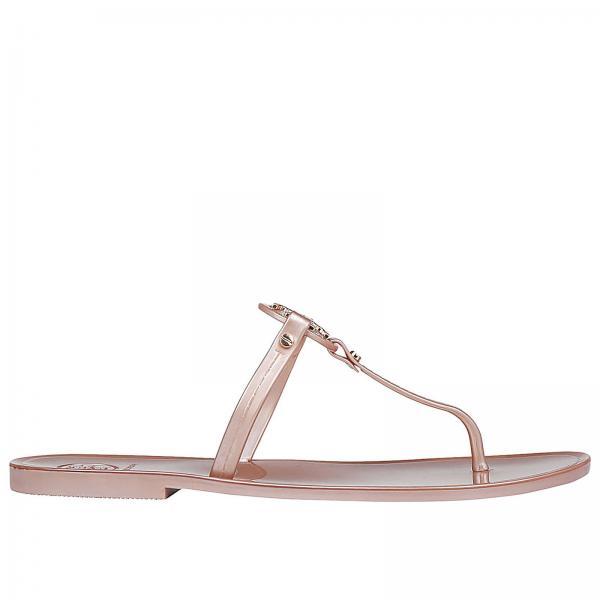 36fc9fd6d857 Flat Sandals Women Tory Burch Pink