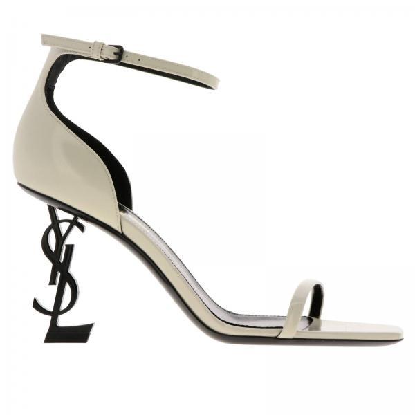 ac87a4bb2cf1c Saint Laurent Women s White Heeled Sandals