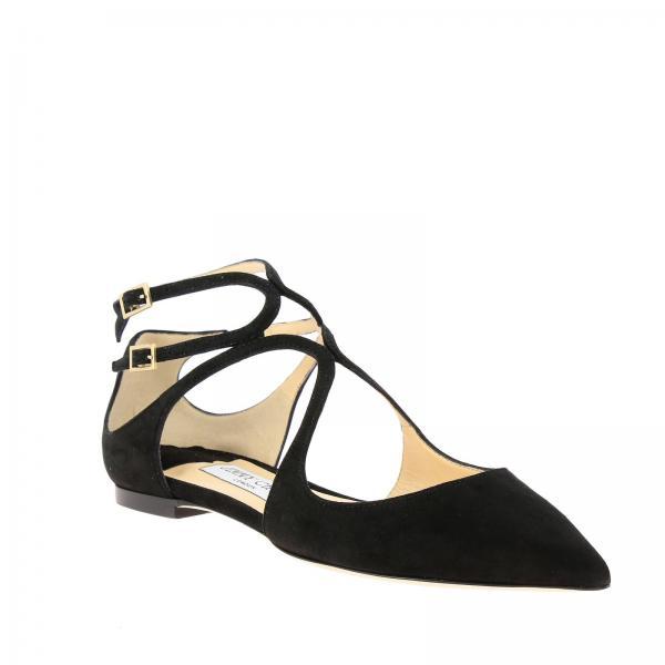 Salón Suegiglio Negro Flat Lancer Jimmy Choo 2019 Primavera De Zapatos verano Mujer pUx5CwACq
