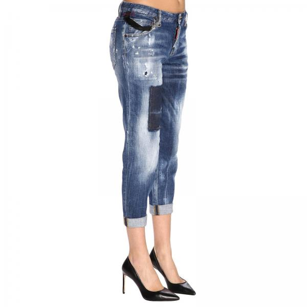 Dsquared2 Donna A 5 Toppe Tasche S75lb0133s30342 Rotture E BlueStretch Con Jeans Used nk08OPw
