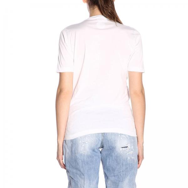 BiancoA Maxi Dsquared2 Corte Con Stampe Donna T Maniche shirt By S75gc0974s22427 H92WDEIY