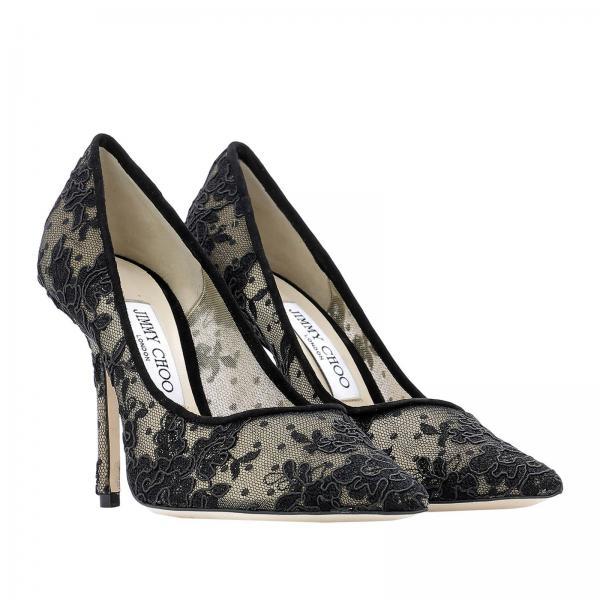 De Love Salón 100 Mujer Jimmy 2019 Negro Zapatos Primavera Choo verano Oregiglio 4wq74C