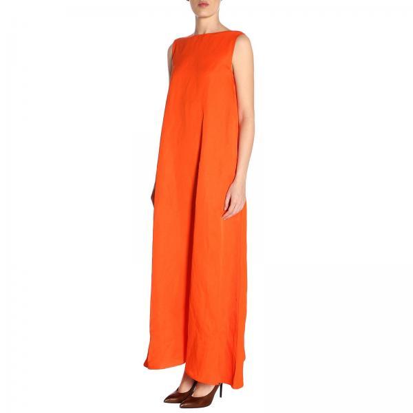 Mujer Naranja 390700giglio Vestido 500900 Sander verano Primavera Jil 2019 tdnSrqIxS