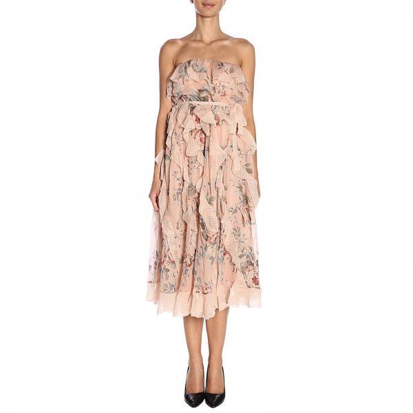 Rosa verano 5156dbowgiglio 2019 Zimmermann Primavera Mujer Vestido qR6w8q