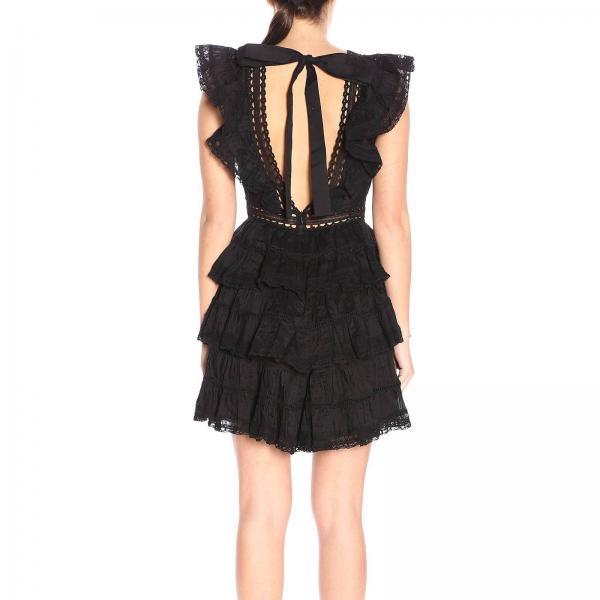 4914djnpgiglio verano Vestido Negro Zimmermann Mujer 2019 Primavera qttwfv