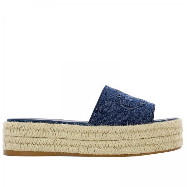 Zapatos Cuña Primavera Prada Blue 2019 3v46giglio Mujer verano 1xx473 De 770rwxq5nC