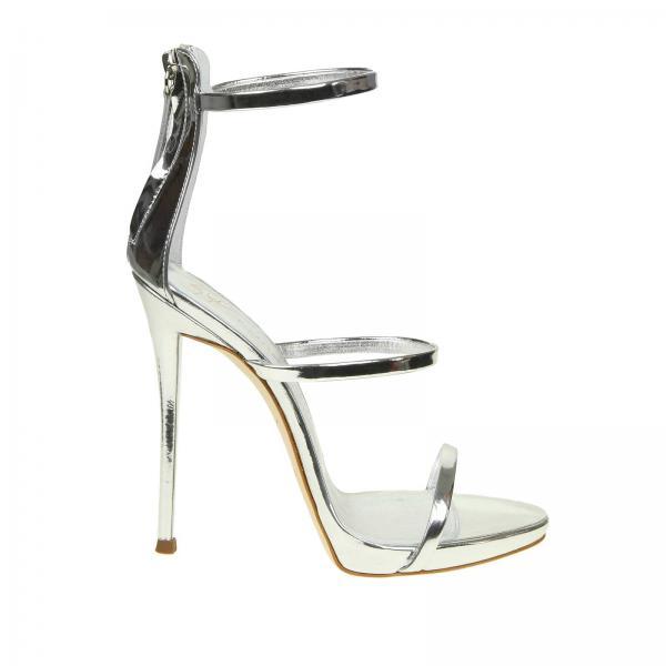 ae498913ac18 Giuseppe Zanotti Design Women s Silver Heeled Sandals