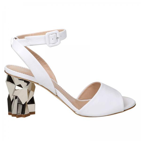 95fb572b2 Giuseppe Zanotti Design Women s White Heeled Sandals